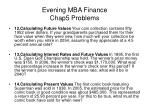 evening mba finance chap5 problems2