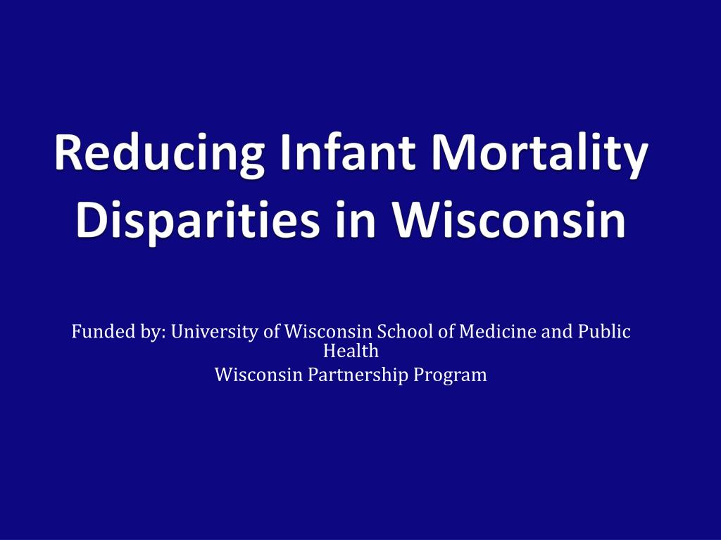 reducing infant mortality disparities in wisconsin l.