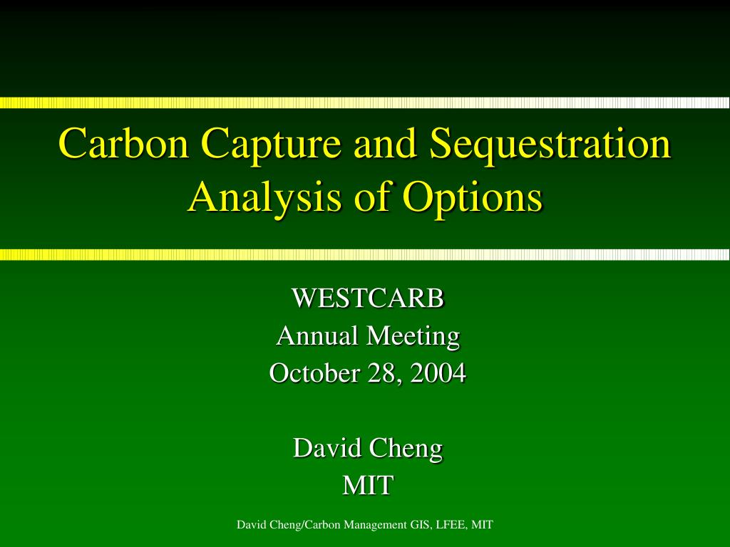 carbon capture and sequestration analysis of options l.
