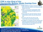 chk is also king of the haynesville bossier shale overlap core