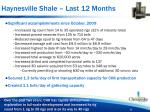 haynesville shale last 12 months