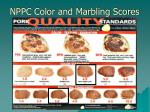 nppc color and marbling scores