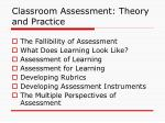 classroom assessment theory and practice