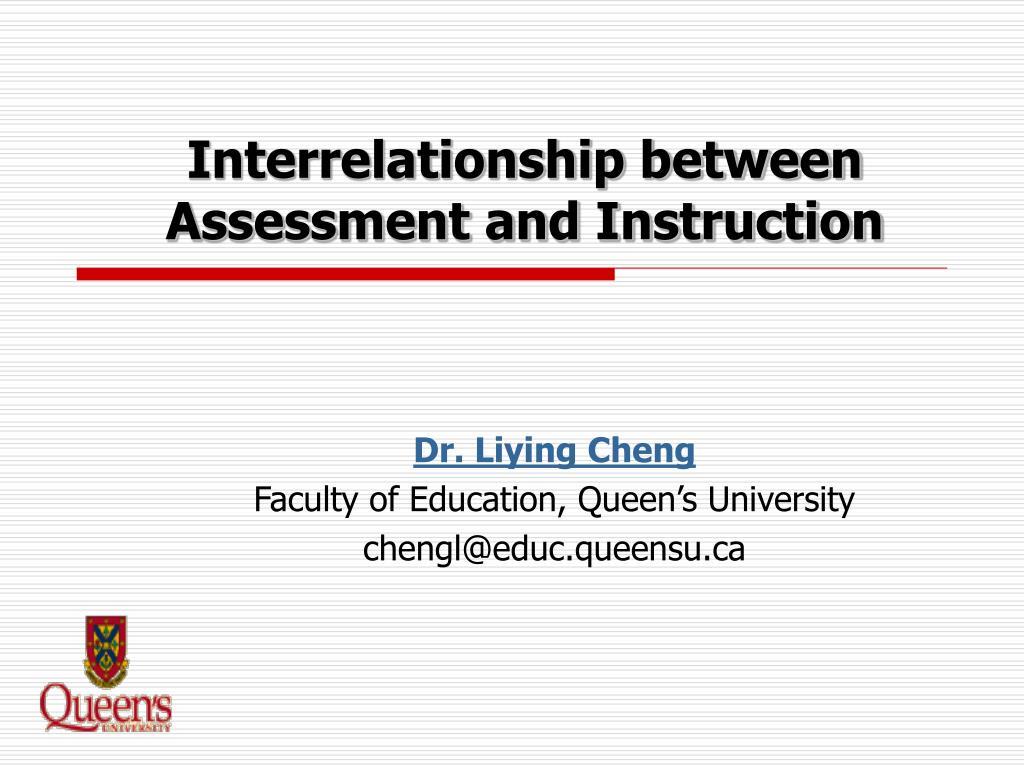 interrelationship between assessment and instruction l.
