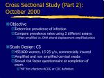 cross sectional study part 2 october 2000