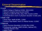 external dissemination19