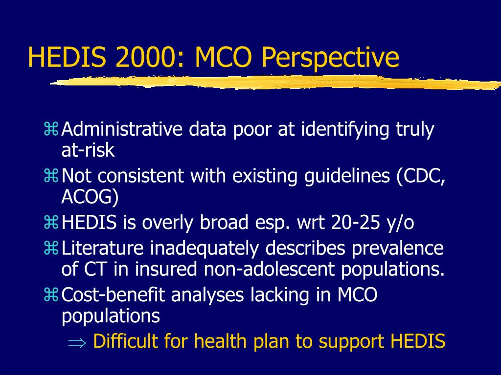 HEDIS 2000: MCO Perspective