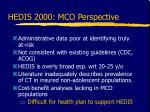 hedis 2000 mco perspective