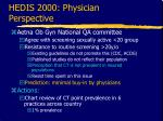 hedis 2000 physician perspective