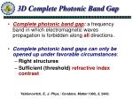 3d complete photonic band gap