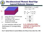 one dimensional photonic band gap layered dielectric structure