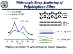wide angle x ray scattering of polythiophene films
