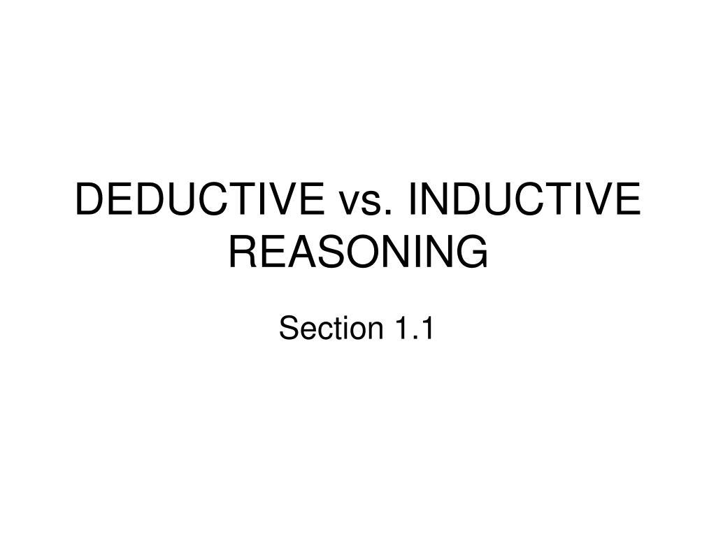 deductive vs inductive reasoning l.