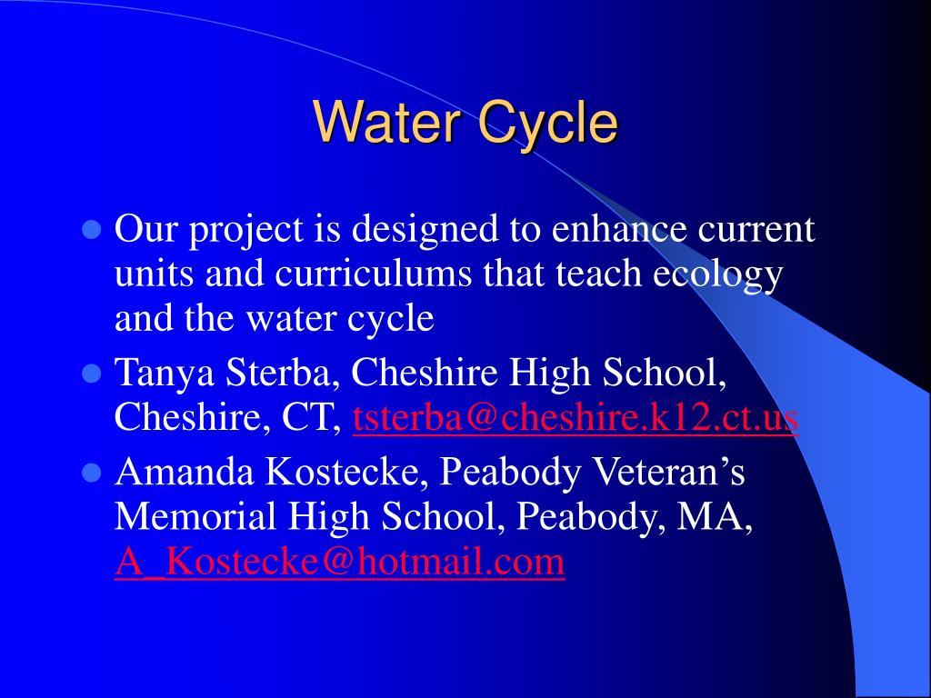 water cycle l.