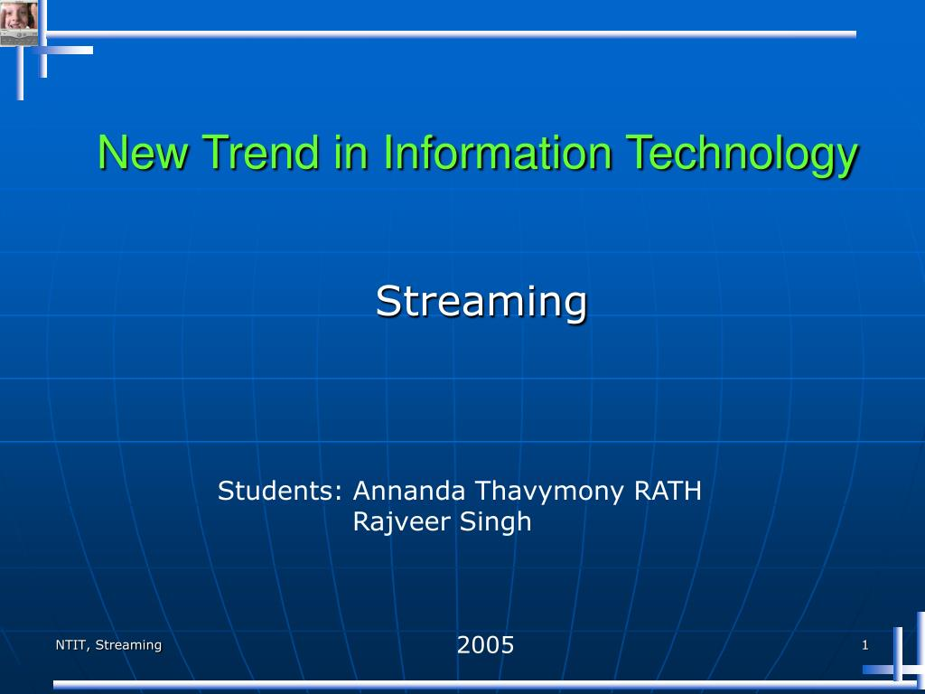 new trend in information technology l.
