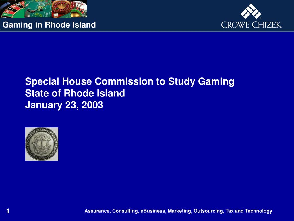 special house commission to study gaming state of rhode island january 23 2003 l.