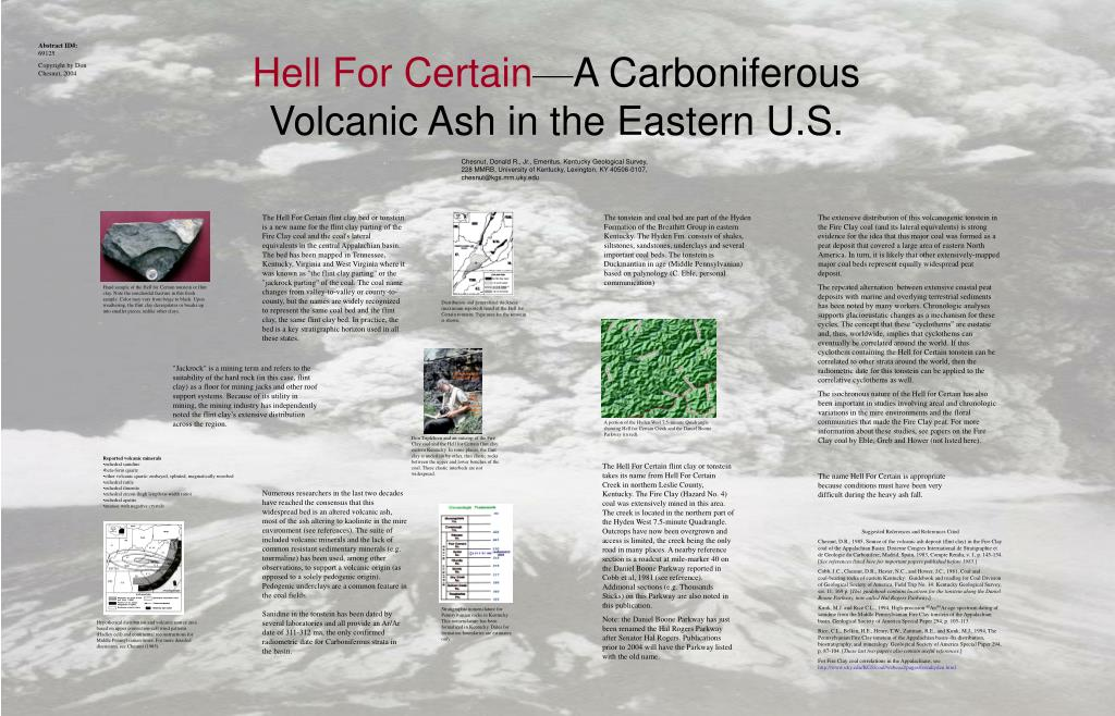 hell for certain a carboniferous volcanic ash in the eastern u s l.