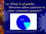 10 what of public libraries allow patrons to play computer games