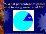7 what percentage of games sold in 2005 were rated m