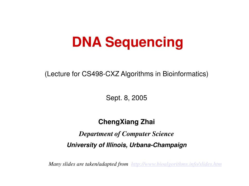 dna sequencing l.