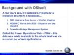 background with osisoft