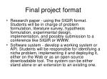 final project format