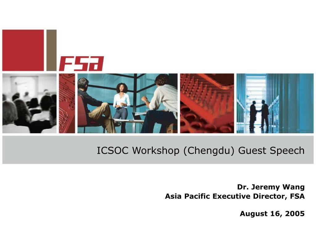 icsoc workshop chengdu guest speech l.