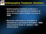 antiresorptive treatment summary