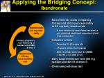 applying the bridging concept ibandronate