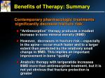benefits of therapy summary