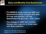daily and monthly oral ibandronate