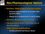 non pharmacological options