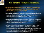 non vertebral fractures a summary