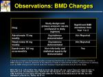 observations bmd changes