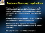 treatment summary implications