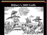 hillary s 2005 gaffe