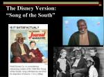 the disney version song of the south