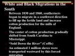 white and black migrations in the south