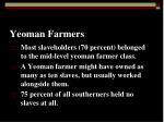 yeoman farmers
