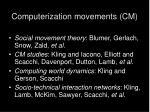 computerization movements cm