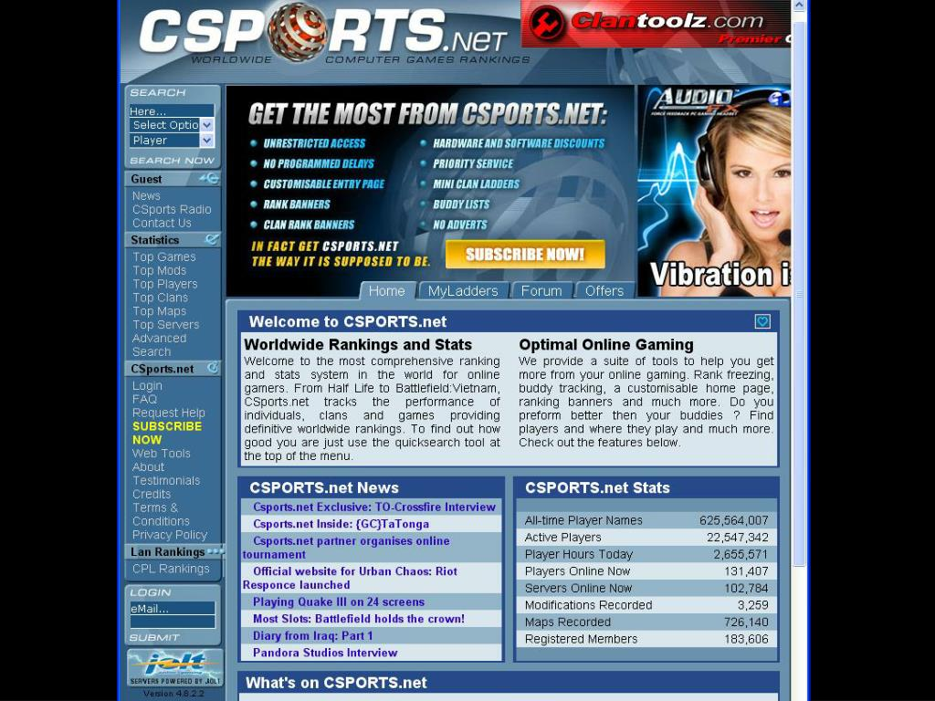 Csports.net Game Players, May 2006