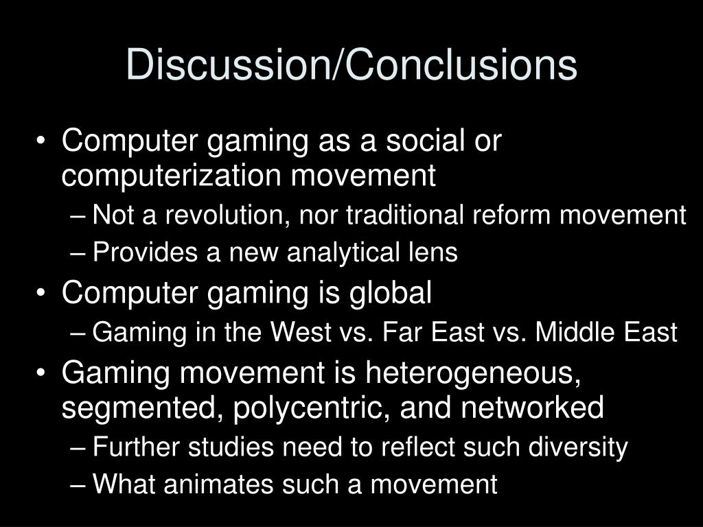 Discussion/Conclusions