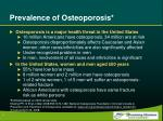 prevalence of osteoporosis