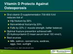 vitamin d protects against osteoporosis