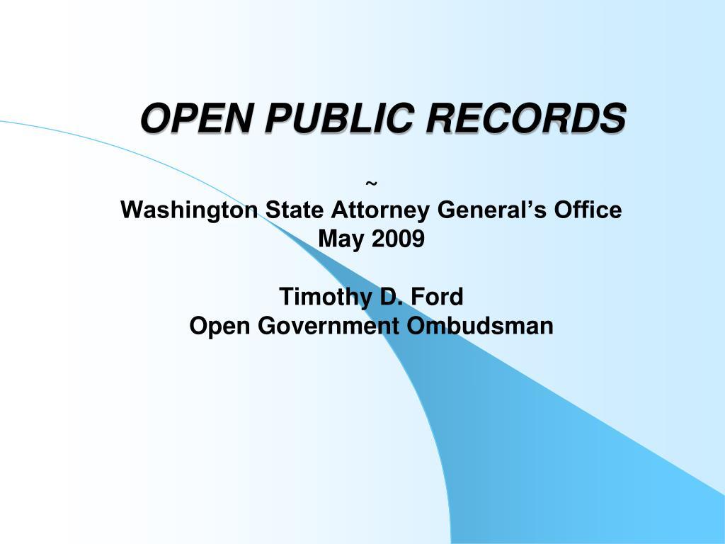 open public records l.