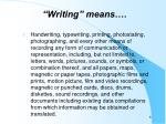 writing means