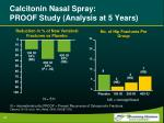 calcitonin nasal spray proof study analysis at 5 years