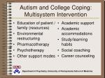 autism and college coping multisystem intervention