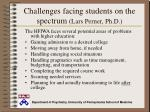 challenges facing students on the spectrum lars perner ph d