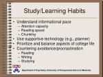 study learning habits